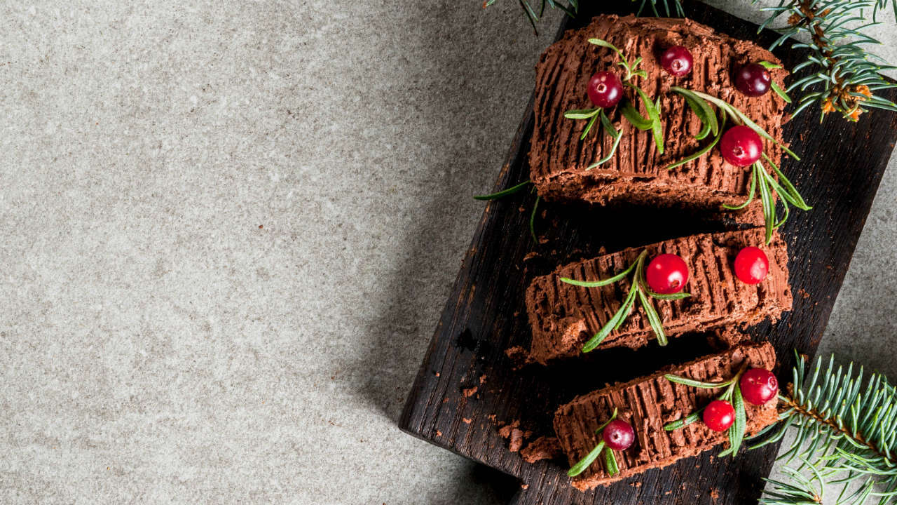 Festive Belgian Chocolate Oreo Yule Log