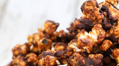 Baked Chocolate Popcorn