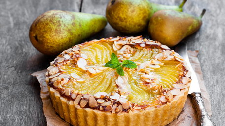 Honey, Pear & Almond Tart