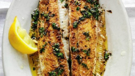 Pan fried black sole with caper and lemon butter