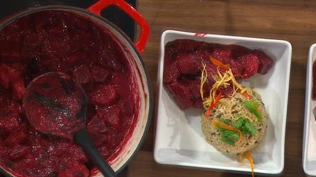 Tempered Potato and Beetroot Curry