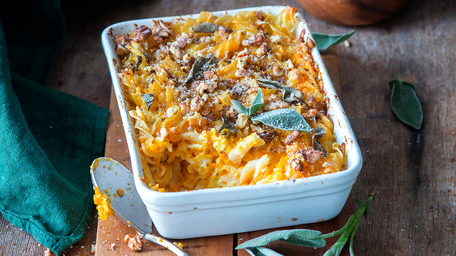 4-Cheese Pumpkin Pasta Bake