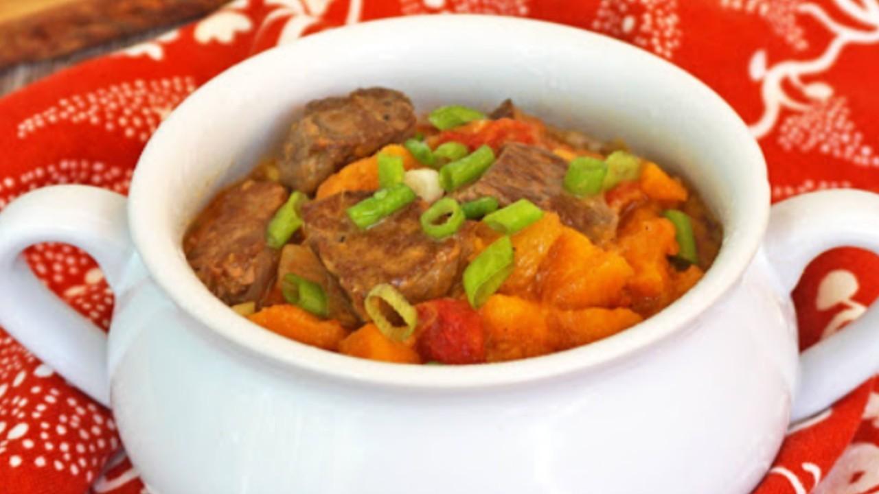 Beef, Chili and Sweet Potato Tagine