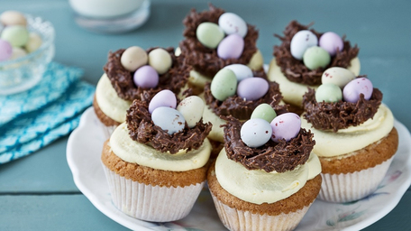 Easter Cupcakes with Nests