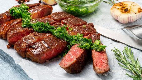 Chimichurri Grilled Rib Eye Steak