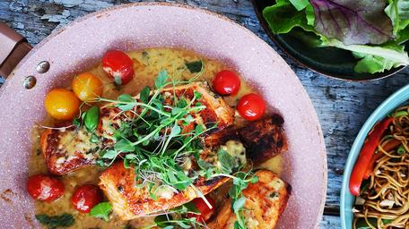 One-Pan Creamy Garlic Salmon