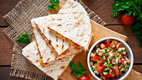 Spiced Baked Beef Quesadillas