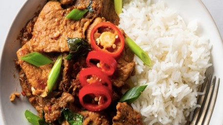Thai Chilli & Basil Pork with Coconut Rice