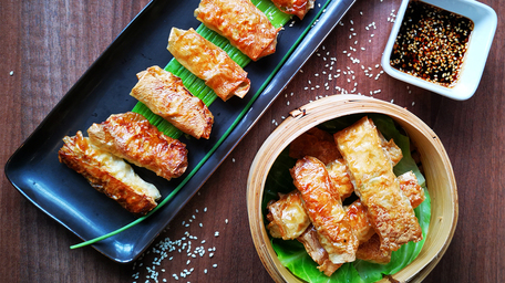 Fried Chicken and Bean Curd Rolls