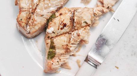 Pan Seared Tuna with Fried Rice