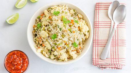 Japanese Fried Rice with Hellmann's Vegan Mayonnaise